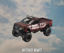 Lifted Ford F-150 Pickup Christmas Ornament 1/50 Off Road 4x4 F150 Jacked up