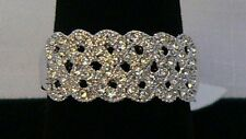 Park Lane Retired 3-Booking LACE Ring w/ Austrian Crystals Very Pretty! Size 9