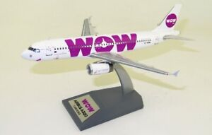 JFOX JFA320008 1/200 WOW AIR AIRBUS A320-232 LZ-WOW WITH STAND