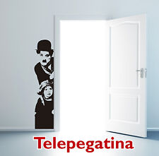 VINILO DECORATIVO PARA PARED CHAPLIN THE KID 123X29 PEGATINA WALL STICKER