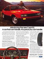 1979 Mercury Capri RS - red - Classic Vintage Advertisement Ad H17