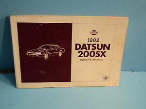 1983 Datsun 200SX Owners Manual Original OEM Owner User Guide Book 200 SX
