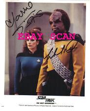 1994 Star Trek Hand Signed Autograph Photo by Marina Sirtis & Michael Dorn