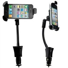 Car Holder Socket 360° Mount With USB Charger For iPhone Nokia HTC Smartphone