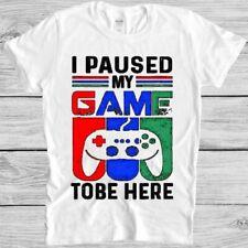 Ich verharrte ich Spiel hier zu sein T Shirt Lustig Spiel XBOX PS Gamer Geschenk Tee m217