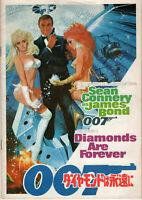 JAMES BOND DIAMONDS ARE FOREVER SUPERB JAPANESE PROGRAM SEAN CONNERY 1971