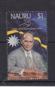 NAURU MNH STAMP SET 1993 25TH ANNIVERSARY INDEPENDENCE DeROBURT SG 407