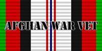 "Afghanistan Veteran War Vet Ribbon Decal Vinyl Bumper Sticker 3.75""x7.5"""
