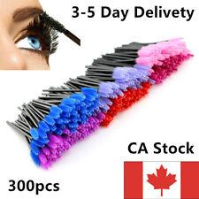 300pc Disposable Women Makeup Eyelash Mascara Brushes Wand Applicator