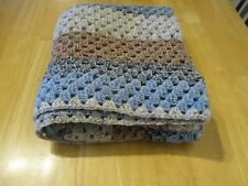 Beautiful  Vintage Style LARGE Granny Crocheted Blanket Throw Hand Made NEW!