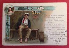 CPA. 1903. Poissons. Ivrogne. Prison. Humour. Baigneuse.