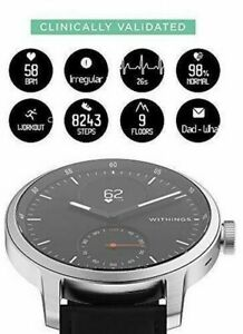 Withings ScanWatch Hybrid Smartwatch 42 mm BLACK Fully Functional in USA NIB