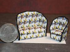 Dollhouse Miniature Halloween Sofa & Chair 1:48 Quarter 1/4 K31 Dollys Gallery