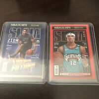 Panini NBA Slam Hoops Insert Lot Zion Williamson And Ja Morant Base Insert