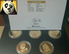 EAST CARIBBEAN STATES 2002 GOLDEN JUBILEE MONARCHS 5x $1 SILVER PROOF COINS