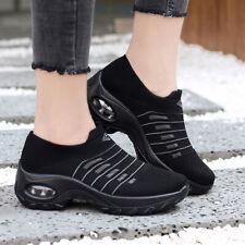 Женские теннисные кроссовки без шнуровки подушка полуботинки кроссовки на платформе