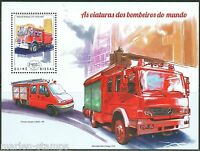 GUINEA BISSAU 2014 FIRE ENGINES OF THE WORLD SOUVENIR SHEET MINT NH