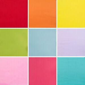 Plain Polycotton Fabric Material Red Orange Yellow Pink Blue White - 1/2 metre