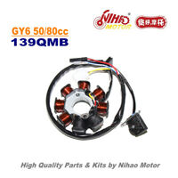 TZ-05B 50cc 8 Pole Stator 4 Wire Magneto Coil GY6 Parts Chinese Scooter 139QMB