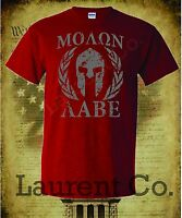 MOLON LABE T-SHIRT COME AND TAKE AR15 THEM IT 2ND AMENDMENT PATRIOT 3 PERCENT 3%