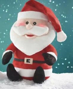 Avon Singing Dancing Santa Claus Light Up Plush Toy Christmas Decoration Gift