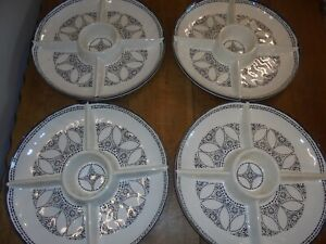39cm Divided Serving Dish Platter Bowl Condiments Appetisers Nibbles Weddings