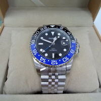40mm Parnis Sapphire GMT Automatic Men Luxury Watch Luminous Mark Rotating Bezel