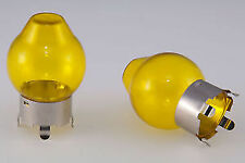 YELLOW GLASS CAP FOR H4 472 HEADLIGHT BULB x2