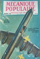 REVUE MECANIQUE POPULAIRE N° 028 VOITURE HUDSON BATEAUX AUBE PORTE AVION 1948
