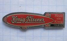 KÖNIG - PILSENER / ZEPPELIN / TOUR 97  / DUISBURG ...Bier-Ballon-Pin (102f)