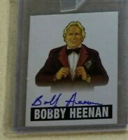 2012 Leaf Originals Wrestling Bobby Heenan ON CARD AUTO AUTOGRAPH WWE blue ink