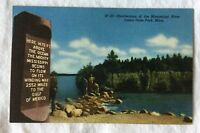 New Curt Teich Postcard Mississippi Headwaters Itasca Park Minn IP-20 Curteich
