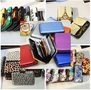 Aluminum RFID Blocking Security Portable Pocket Credit Card Wallet Case Holder