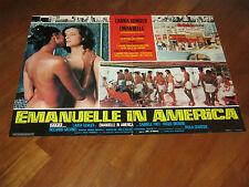Fotobusta,Emanuelle in America,1976,Joe D'Amato.Laura Gemser,Marina Frajese,Sexy