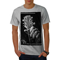 Wellcoda Guitar Solo Song Music Mens T-shirt, Music Graphic Design Printed Tee