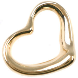 TIFFANY&Co. El Saperetti Open heart Pendant top K18 yellow gold Women