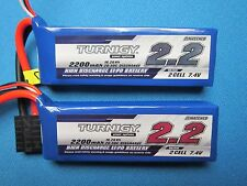 2 2200mah 2S 7.4v RC Lipo Battery 1/16 TRAXXAS E-Revo Slash Rally Summit TRX VXL