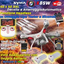 Syma X8SW One Key Landing WIFI FPV HD Camera RC Quadcopter Drone 2 Batterie