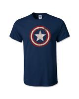 Marvel Comics Shirt Captain America Distressed Shield Logo t shirt