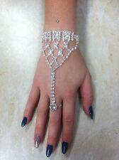 Wedding Bracelet with ring.  Austrian Crystal