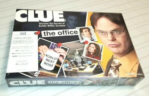 NEW  SEALED! Clue The Office Edition 2009 Version Dunder Mifflin Board Game
