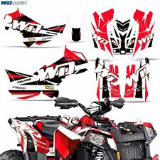 Decal Graphic Kit Polaris Scrambler 850/1000 XP ATV Quad Wrap Deco 13-16 WD RED