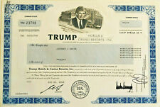 Trump Hotels & Casino Resorts > President Donald Trump stock certificate