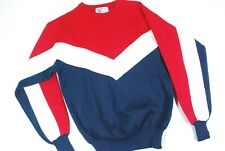 Vintage 80s Tyrolia Padded Ski Sweater Red White Blue Flag American Usa Mens S