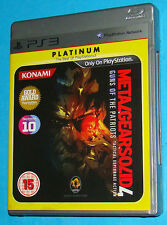 Metal Gear Solid 4 Guns Of The Patriots - Sony Playstation 3 PS3 - PAL