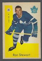 1959-60 Parkhurst Toronto Maple Leafs Hockey Card #26 Ron Stewart