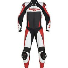 FURYGAN FULL APEX 1 Piece Ducati Red/White/Black Motorbike Leather Racing Suit