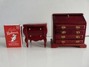 Doll's House Furniture Bureau & Side Table.