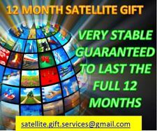 12 MONTH SATELLITE GIFT OPENBOX, ZGEMMA, DREAMBOX, VU DUO, AMIKO, PLUS MORE,