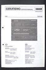 Grundig CCD 600 ORIGINAL LECTEUR CD bande Tuner Manuel de service/